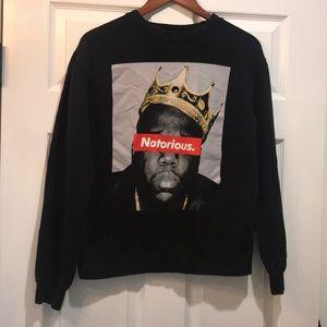 Notorious BIG crew neck sweatshirt
